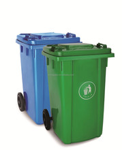 strong garbage waste bin with wheel