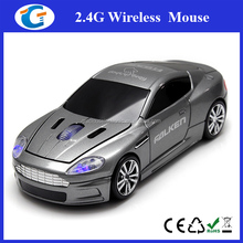 2.4G usb 3d optical wireless mouse car with logo customized