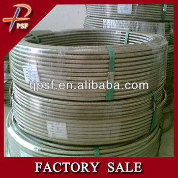 PTFE teflon tube braided with stainless steel