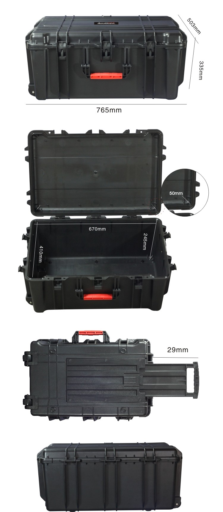 Anti-shock waterproof plastic case
