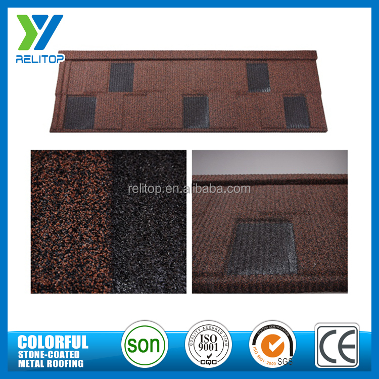 Popular Al-Zinc Stone Chip Coated Roofing Shingle