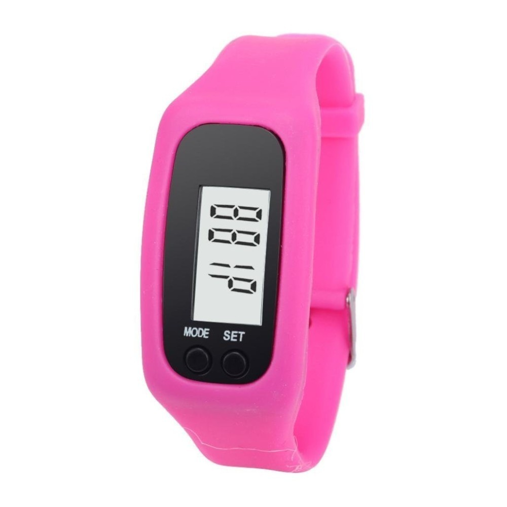 Outdoor mini smart Silicone & ABS barcelet pedometer