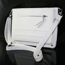 New fashion leather for ipad carrying case with shoulder strap