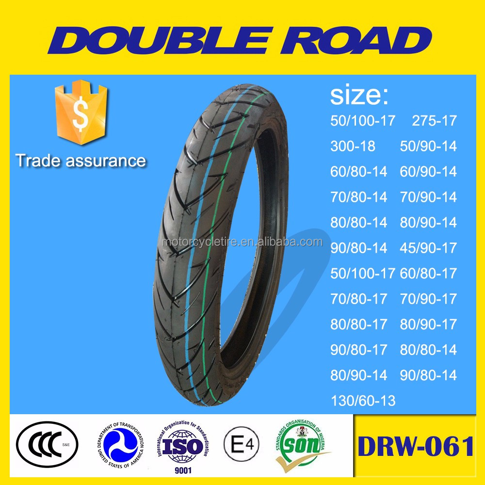 Wholesale rubber tubeless 90/80 14 motorcycle tire to philippines