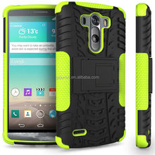High quality hybrid heavy duty shockproof stand case For LG G3 made in china