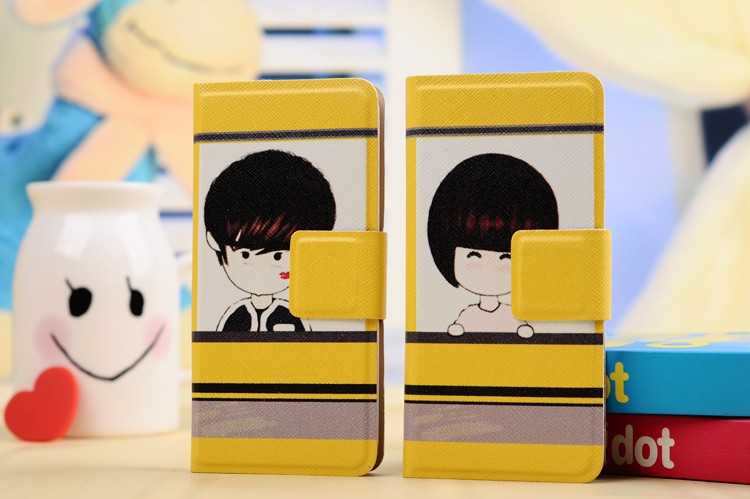 2014 lovely cute for couple beauty flip phone case for iphone