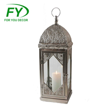 ML-2655 Set Of 2 New Design Fashionable Custom Printed Cheap Hanging Moroccan Brass Lantern