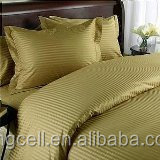 hotel cotton fabric textile, jacquard bed sheet fabric material/ sateen stripe bed sheet set made in zhejiang