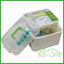 clear family plastic small first aid empty travel camping sport medical emergency storage box with handle and lock for hardware