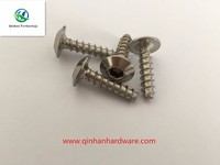 304 stainless steel truss head self tapping screw
