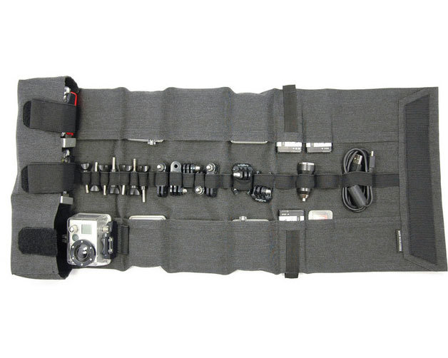 Roll-up go Go pro Organizer Carrying case roll up canvas case bag mount hero5/4/3/3+ Go pro camera accessories