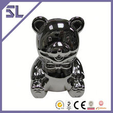 Custom Logo Teddy Bear Shape Metal Money Box Footboll Money Box China supply