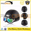 ProCircle Open Face Matte Black Motocycle Helmet