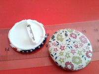 Custom Fabric Button Badge Pin,Floral Pin Badge