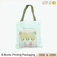 Custom manufacture made blank plain cotton tote bag with logo printing