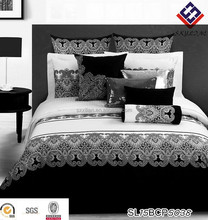 2015 new design fashion home textile bedding set Black and white Geometric figure