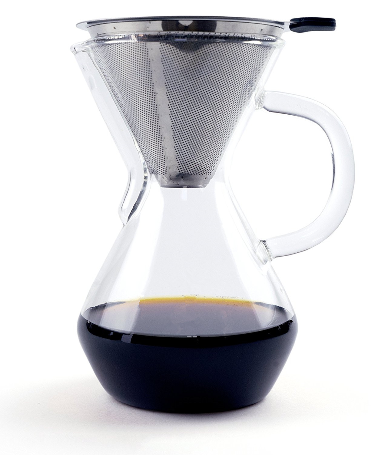 Pour Over Coffee Maker 17oz Brewer BPA Free Borosilicate Glass Carafe Pitcher