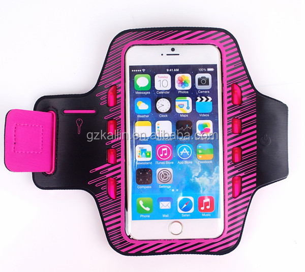 mobile phone led light sport armband jogging case