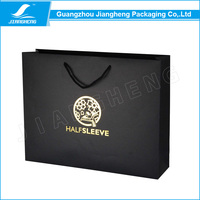 2016 cheap gift paper bag with logo print for apparel packaging