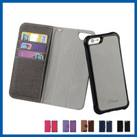 C&T Luxury protective flip pu leather covering case for iphone 6s