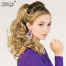 SIREN CLIP ON PONYTAIL SYNTHETIC FAKE HAIR PIECE EXTENSION