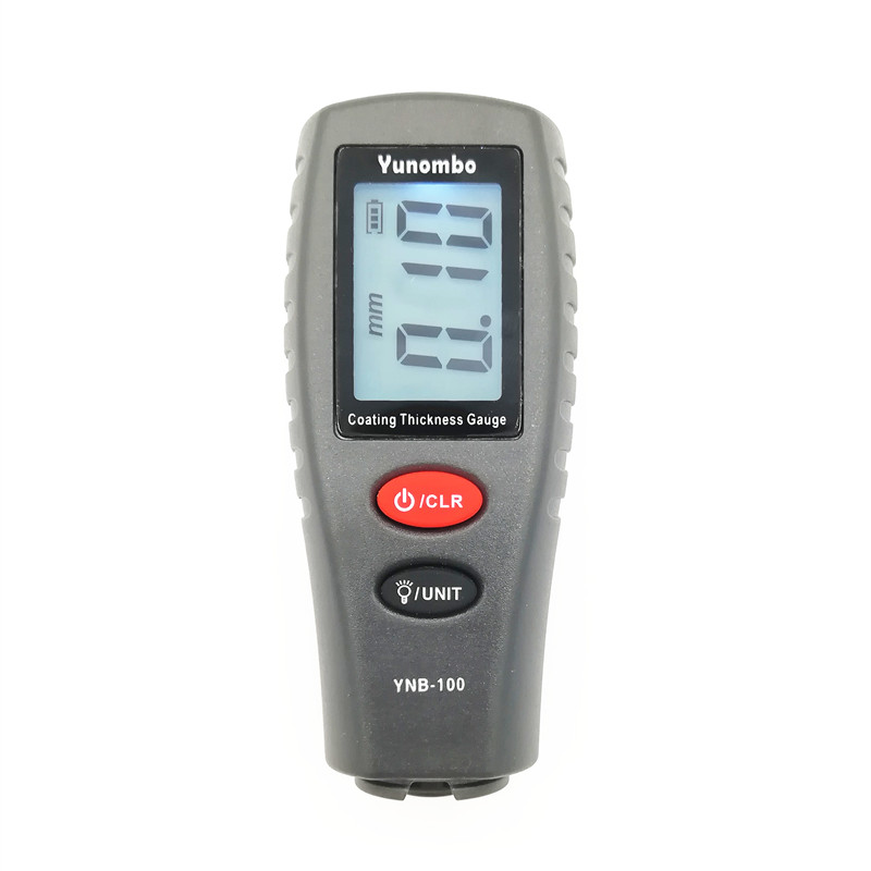 Yunombo YNB-100 English Russian Manual Digital Car Paint <strong>Thickness</strong> Meter Digital <strong>Thickness</strong> Tester Coating <strong>Thickness</strong> Gauge