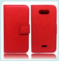Stand Leather Flip Case for LG Motion 4G MS770