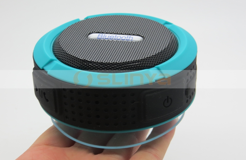 Suction Cup Hands-Free Speakerphone Wireless Bluetooth 3.0 Dustproof Waterproof Outdoor Speaker