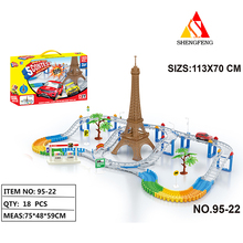 plastic toy train track model for cartoon train kids game toy