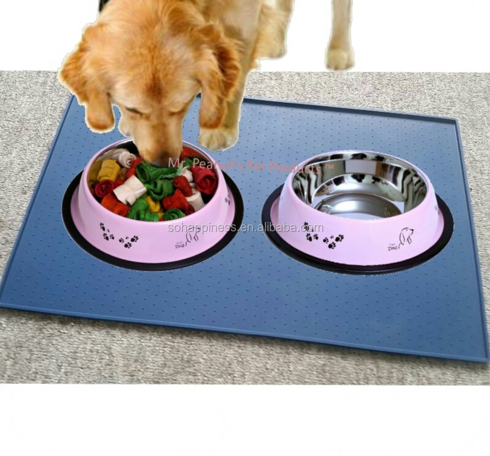 Pet Feeding Mat for Cats & Dogs | Flexible, Easy To Clean Tray Prevents Messes pet mat