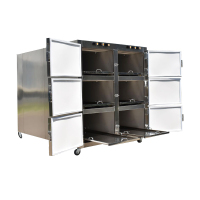 Big sale stainless steel 2 bodies 6 corpses mortuary refrigerator morgue freezer hot sale in world