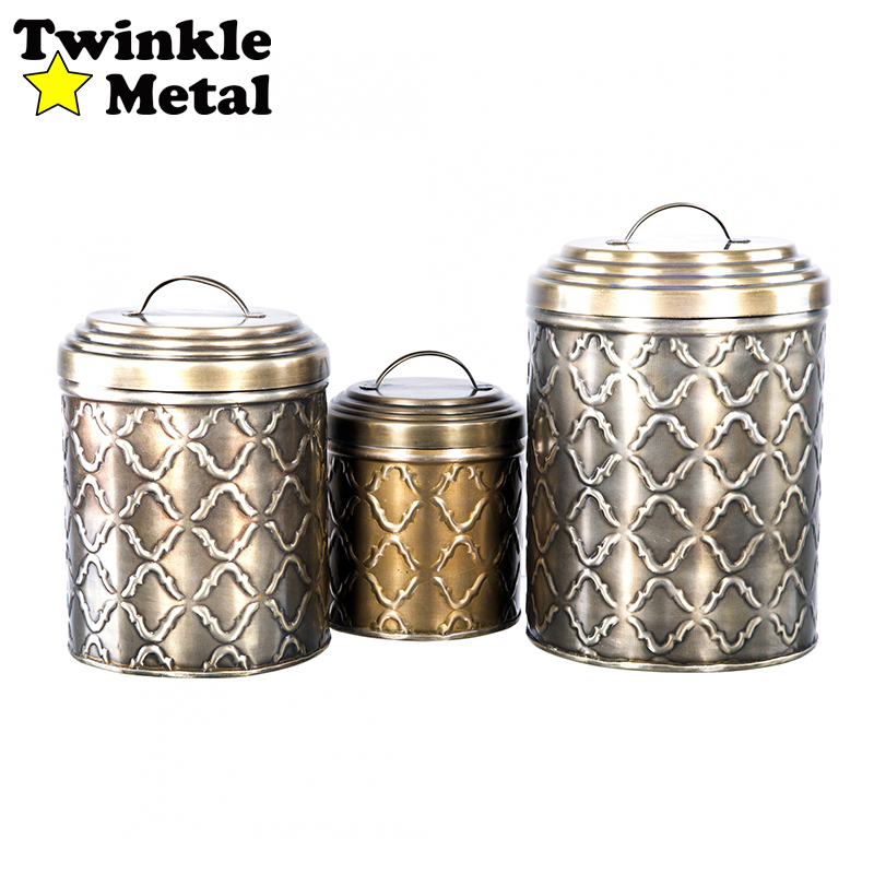 Storage container set tea coffee sugar canister set colorful kitchen canister set