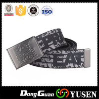 Wholesale custom web canvas belts with custom buckle logo