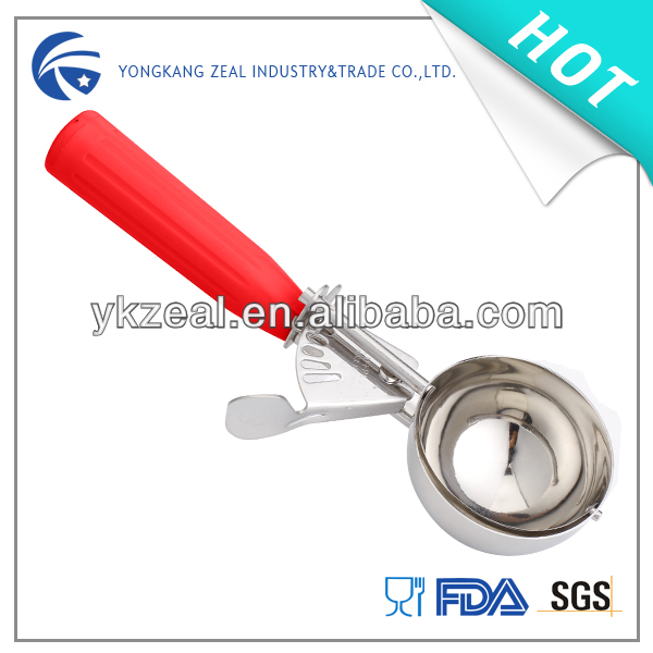 Stainless steel best ice cream makers with ABS plastic handle