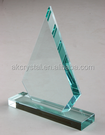 Triangle shape jade awards from factory