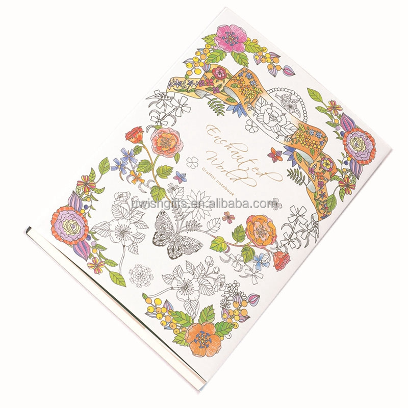 Popular custom design picture coloring books material paper with print on demand books