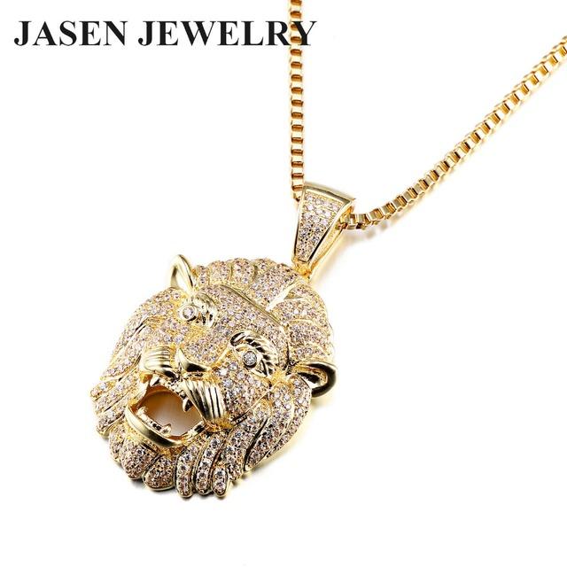 Gold pendant designs men fashion jewelry animal lion head pendant