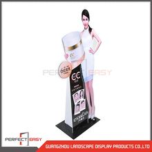 Metal makeup cosmetic display stand for exhibition