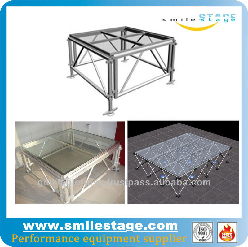 collapsible glass stage