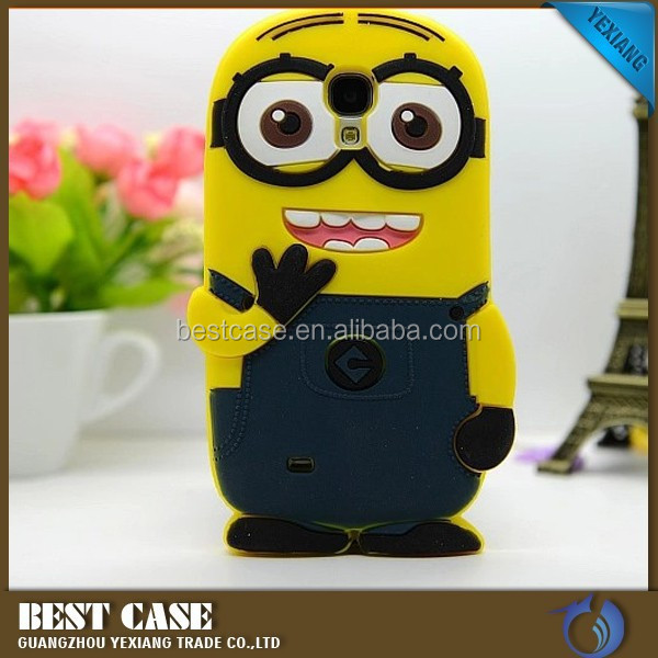 wholesale minions case for samsung galaxy s4 i9500 soft silicone phone case