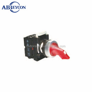 BB131 red turn long handle push button switch momentary from R to C illuminated handle switch