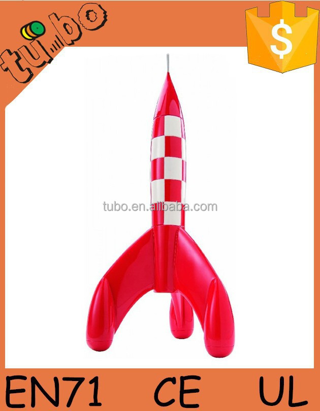 Newest Design rocket for advertising, durable inflatable rocket