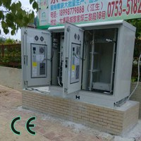 Telecom rack with air conditioning units