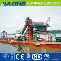 chinese gold mining equipment dredge boat for sale
