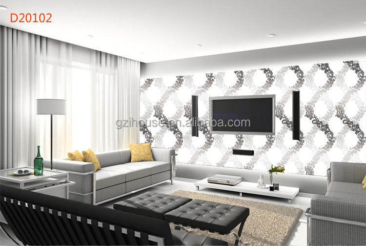 Guangzhou new design texture pvc cheap modern wallpaper for Cheap designer wallpaper