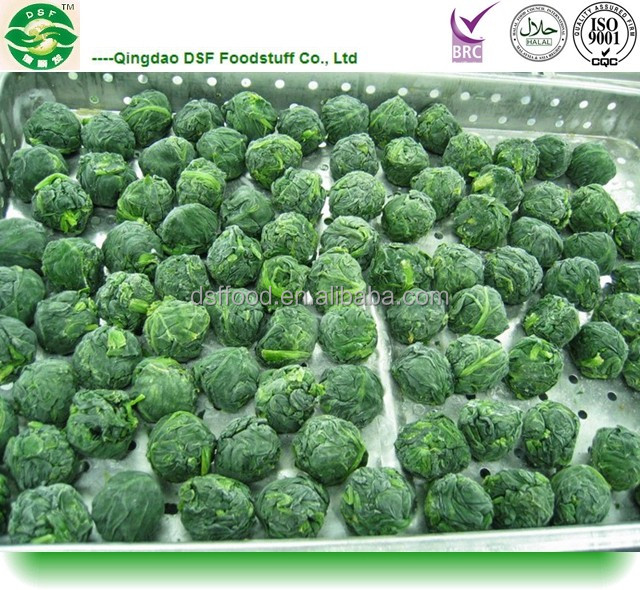 iqf frozen spinach ball and frozen spinach dice