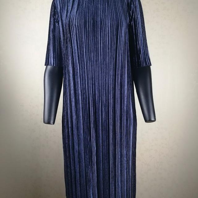 del mujeres del 2017 por nueva la de venta plisado tarde Vestido la al terciopelo las diseño la de de de moda mayor BBqxCXzA