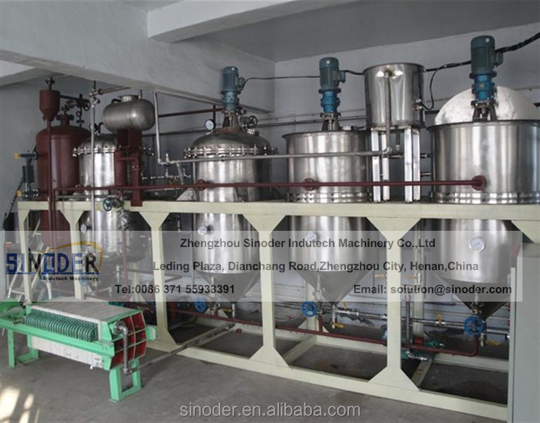 1T/D-100T/D oil refining equipment small crude oil refinery soybean oil refinery plant vegetable oil refining