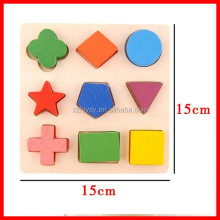 2016 Funny Puzzle Game Wooden Gemetry Montessori K Education Toy For Babys