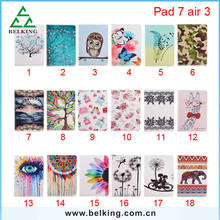 For iPad air Card slot printing leather case for iPad air flip book cover